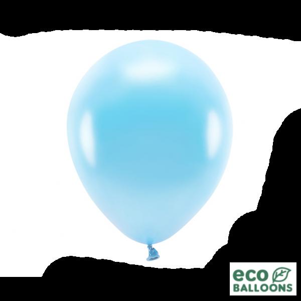 100 ECO-Luftballons - Ø 30cm - Metallic - Light Blue