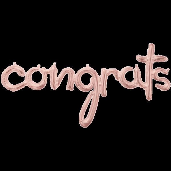 1 Ballon - Schriftzug congrats - Rosegold - Ø 142cm