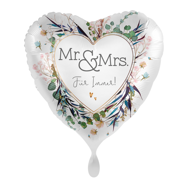 1 Ballon - Mr. & Mrs.