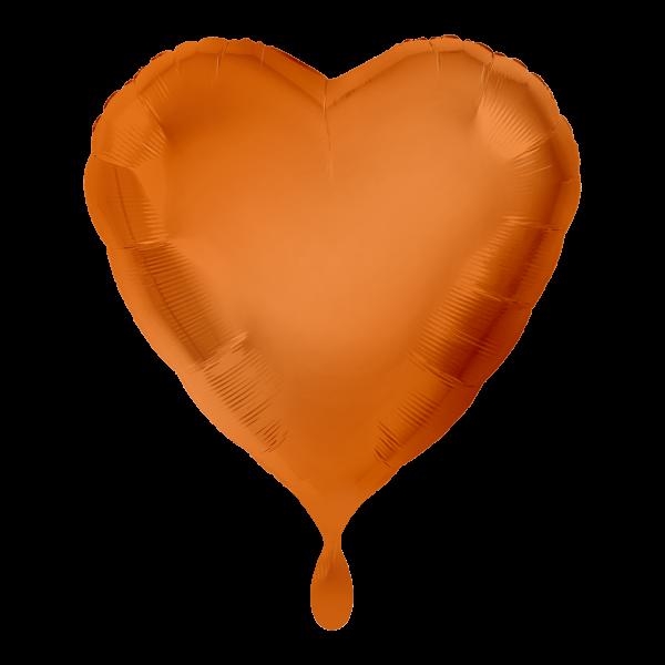 1 Ballon - Herz - Orange