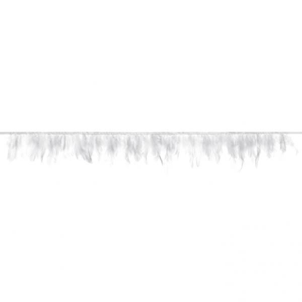1 Federgirlande - 1m - Weiß