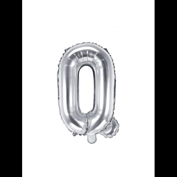 1 Ballon XS - Buchstabe Q - Silber