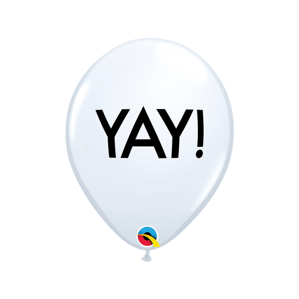 6 Motivballons - Ø 27cm - Yay