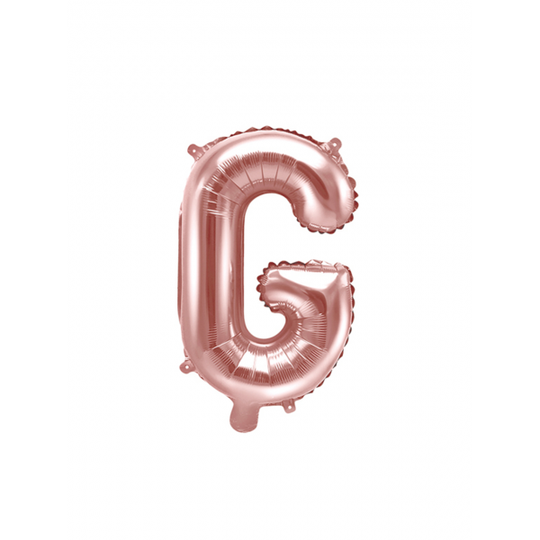 1 Ballon XS - Buchstabe G - Rosegold