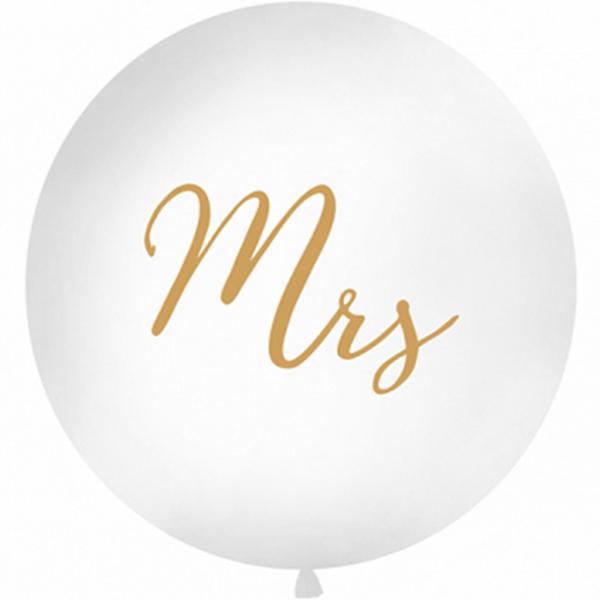 1 Riesenballon - Ø 1m - Mrs - Gold