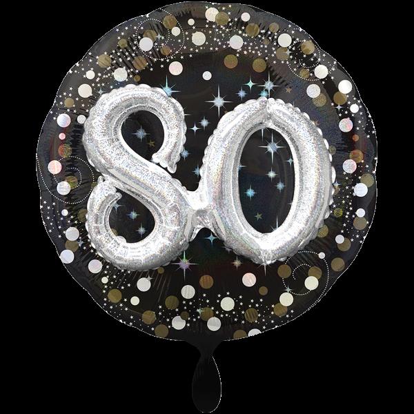 1 Ballon XXL - Sparkling Birthday 80