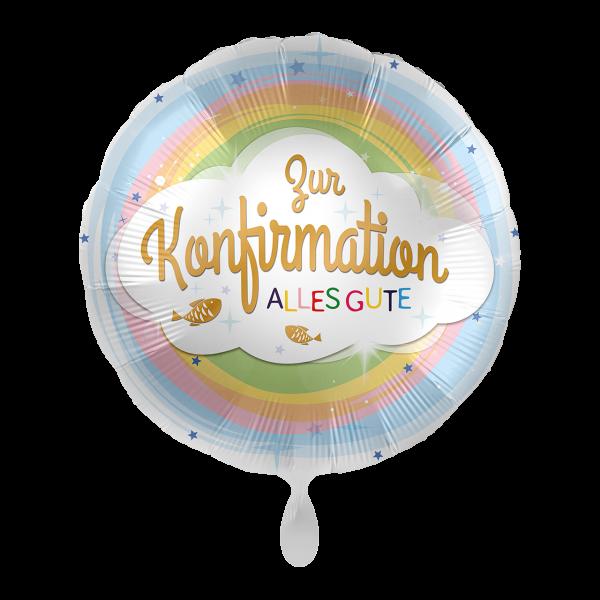 1 Ballon - Konfirmation Regenbogen