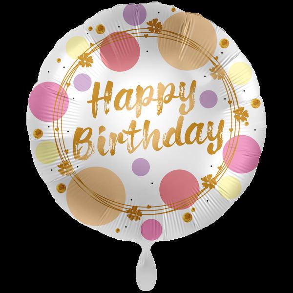 1 Ballon XXL - Shiny Dots Birthday
