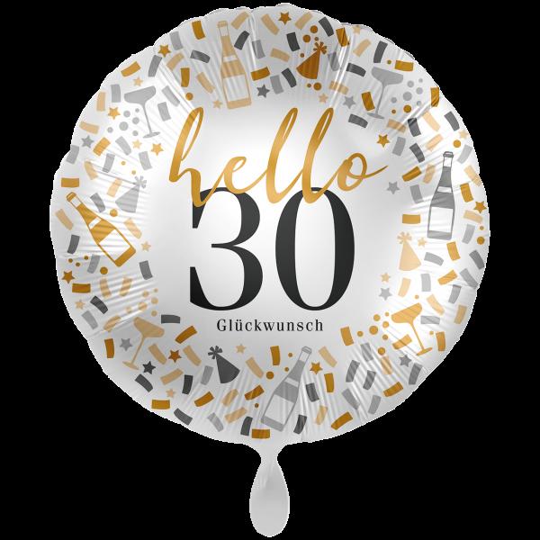 1 Ballon XXL - Hello 30