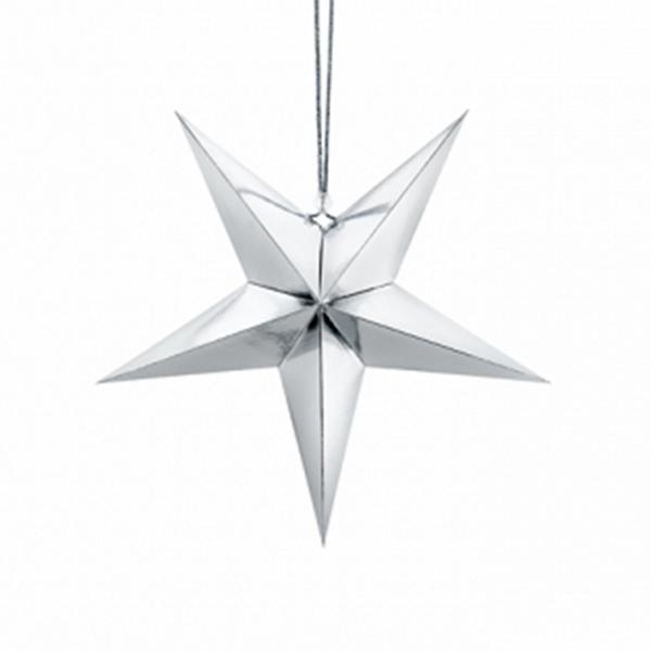1 Paperstar - 30cm - Silber