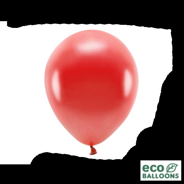 100 ECO-Luftballons - Ø 26cm - Metallic - Red