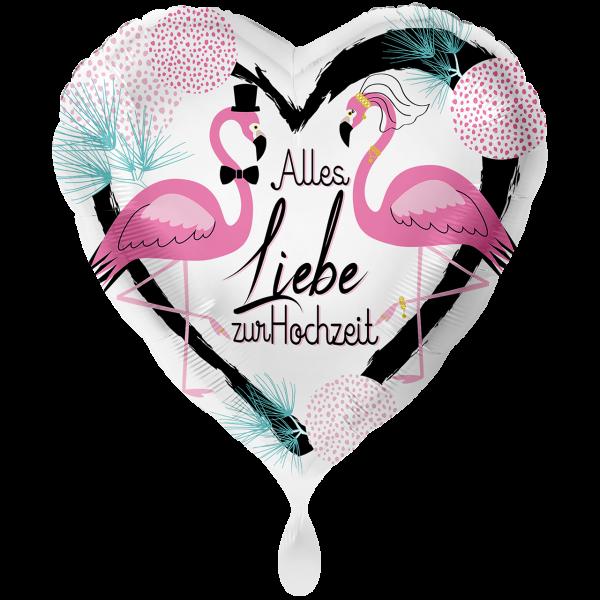 1 Ballon XXL - Hochzeit Flamingos