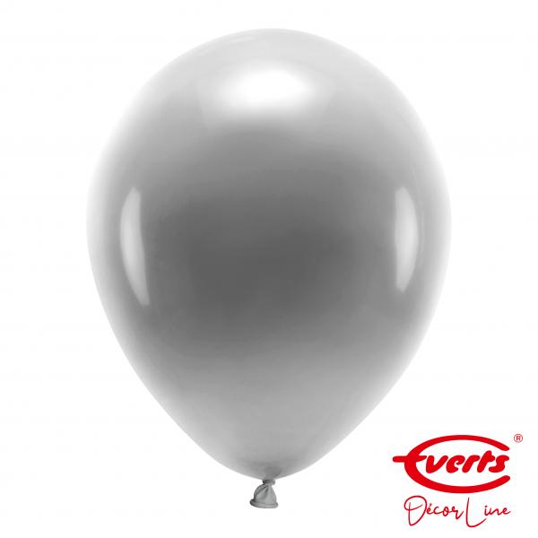 50 Luftballons - DECOR - Ø 35cm - Pearl & Metallic - Silver