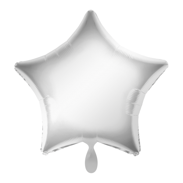 1 Ballon - Stern - Silber