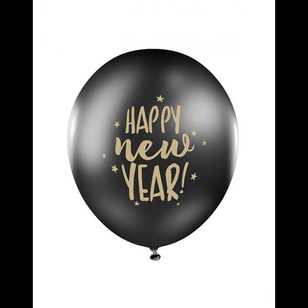 6 Motivballons - Ø 30cm - Happy New Year 2.0