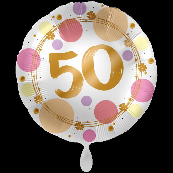 1 Ballon XXL - Shiny Dots 50