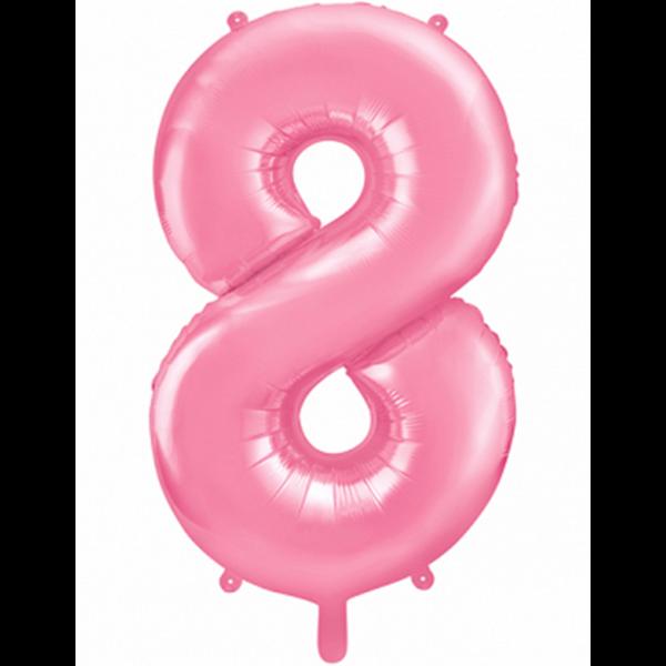 1 Ballon XXL - Zahl 8 - Rosa