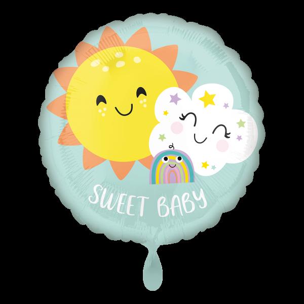 1 Ballon - Sweet Baby Rainbow