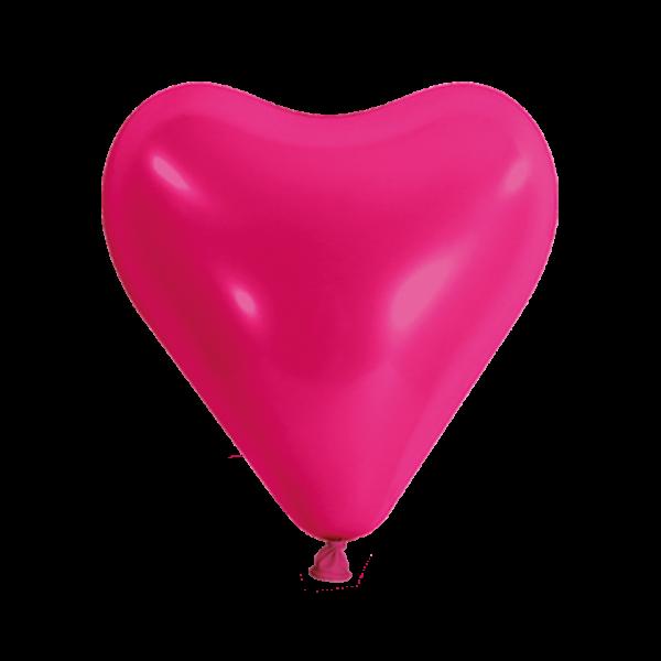 500 Herzballons - Ø 30cm - Pink