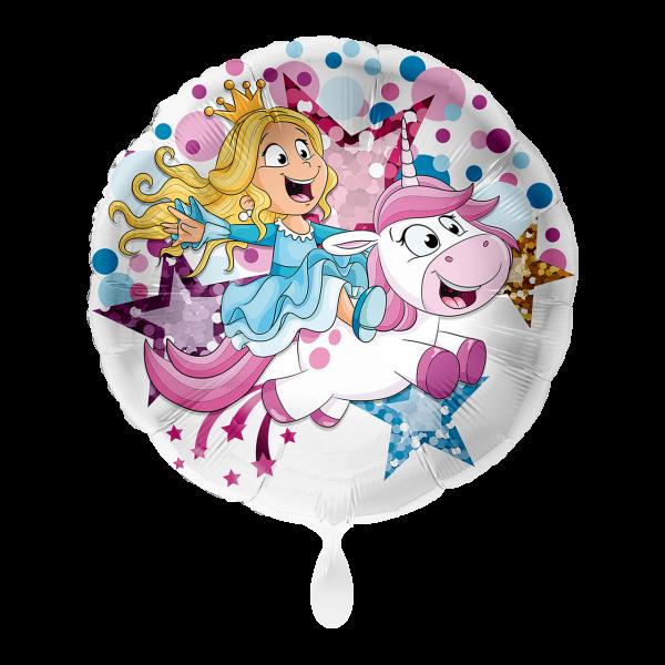 1 Ballon - Einhorn & Prinzessin