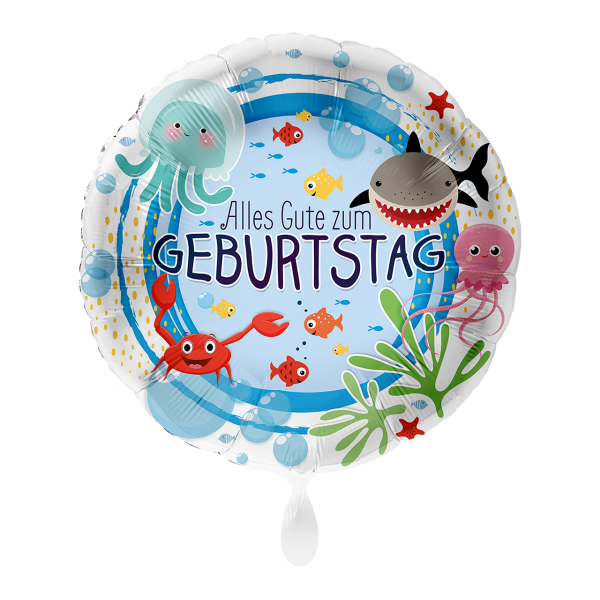 1 Ballon - Geburtstag Unterwasserwelt