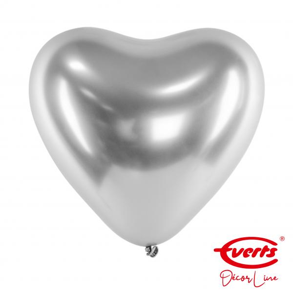 50 Herzballons - DECOR - Ø 30cm - Satin Luxe - Platinum