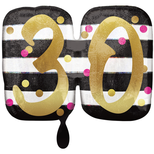1 Ballon XXL - Pink & Gold Milestone 30