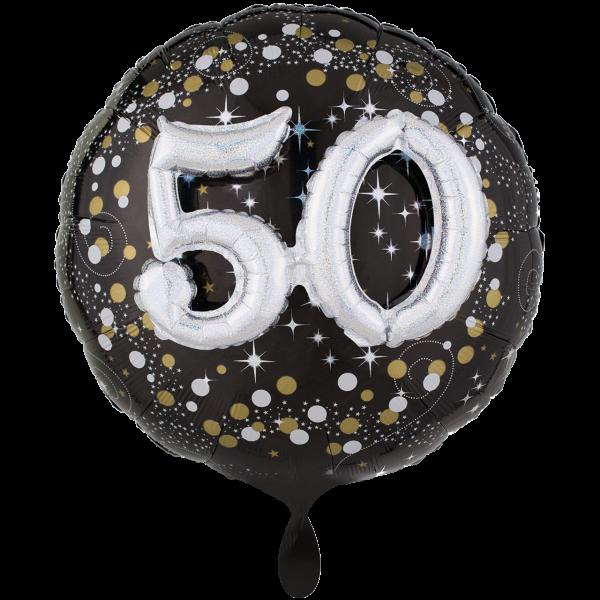 1 Ballon XXL - Sparkling Birthday 50
