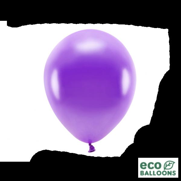 10 ECO-Luftballons - Ø 26cm - Metallic - Violet