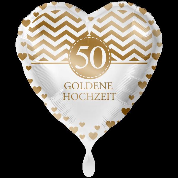 1 Ballon XXL - Goldene Hochzeit