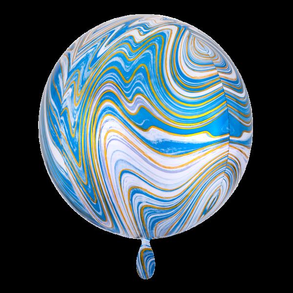 1 Ballon - Orbz - Blue Marblez