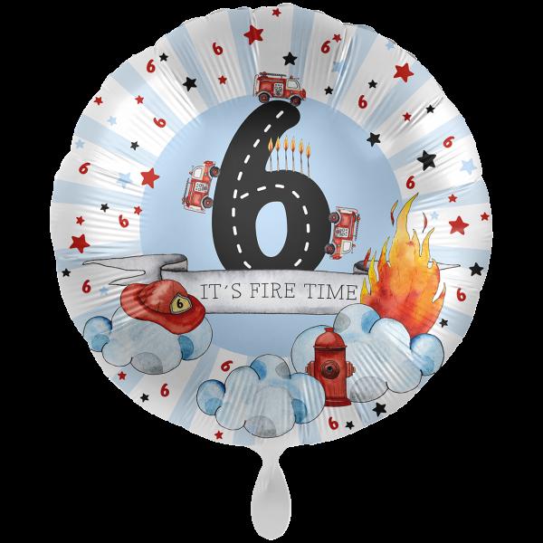 1 Ballon XXL - Happy Fire Engine - Sechs