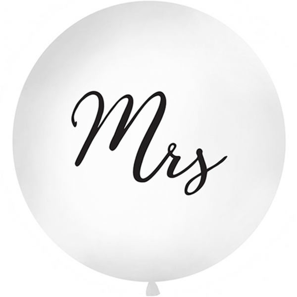 1 Riesenballon - Ø 1m - Mrs - Black