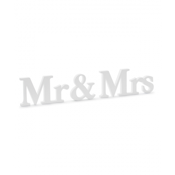 1 Holzdekoration - Mr & Mrs White