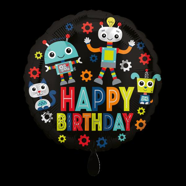 1 Ballon - Birthday Robots