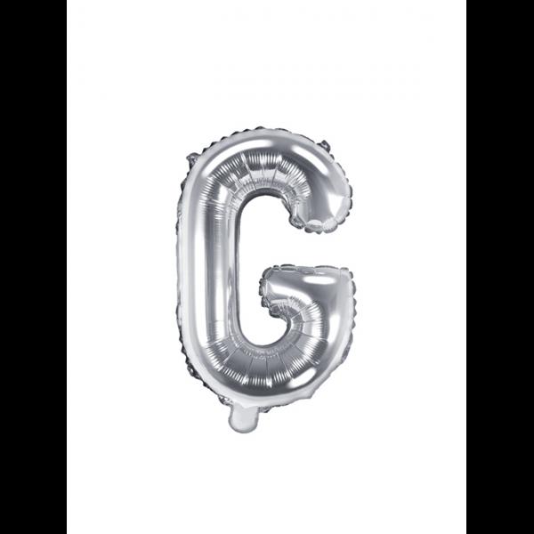 1 Ballon XS - Buchstabe G - Silber