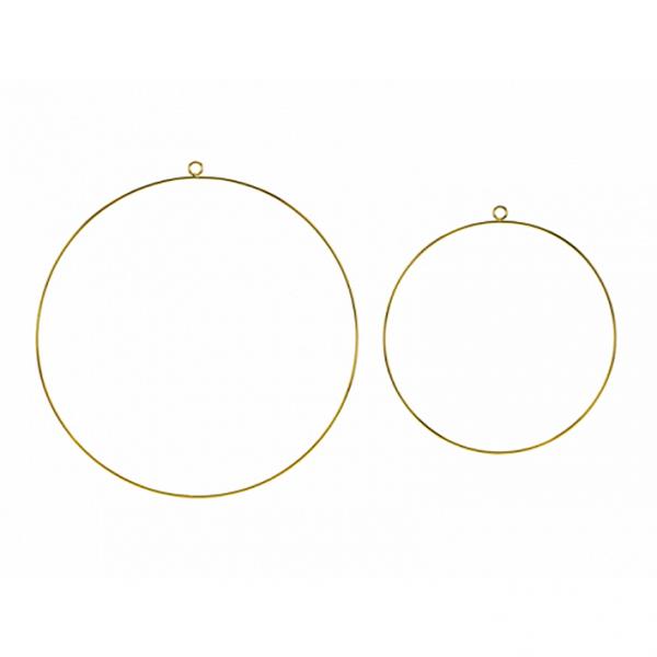 1 Dekoset - Hanging - Mixed Hoops Metal - Gold