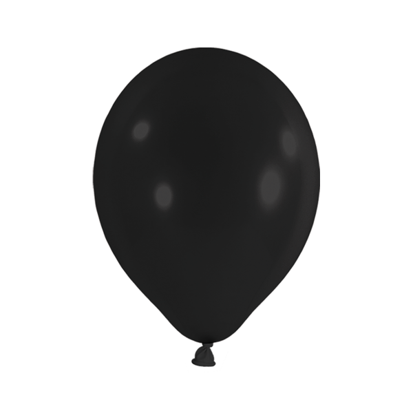 10 Luftballons - Ø 30cm - Schwarz