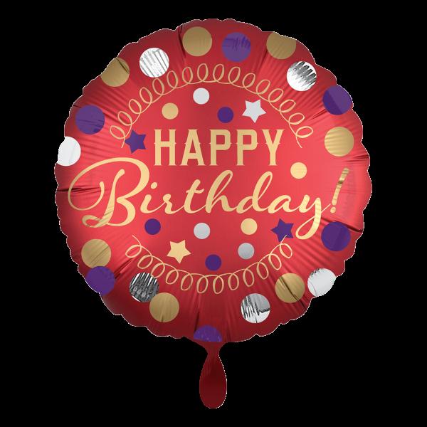 1 Ballon - Red Satin Party