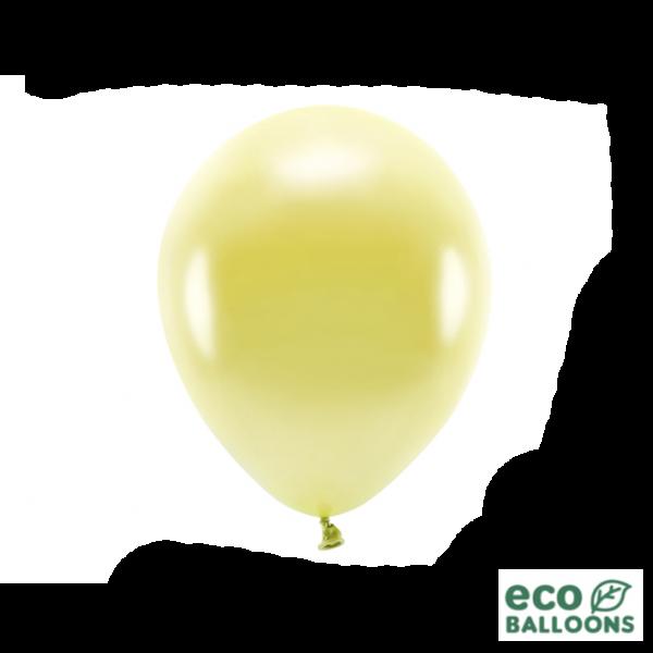 10 ECO-Luftballons - Ø 26cm - Metallic - Light Yellow