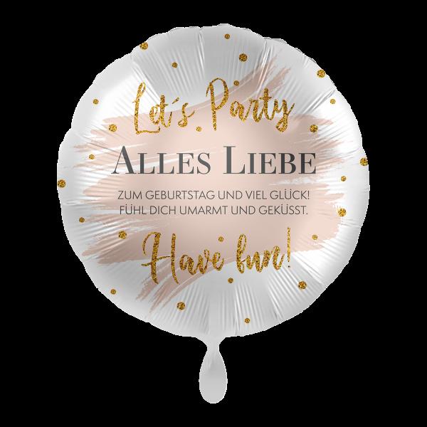 1 Ballon - Alles Liebe Summer Glow