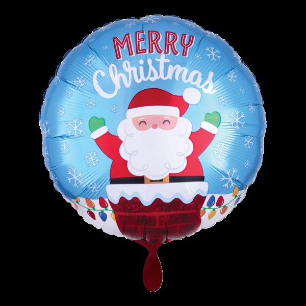 1 Ballon - Santa in Chimney