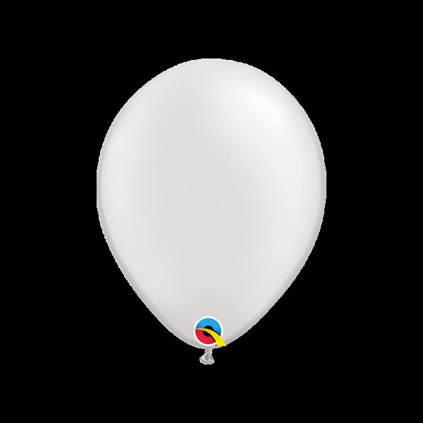 6 Luftballons - Ø 27cm - Pearl - White