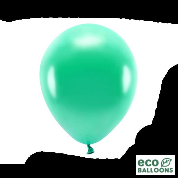 10 ECO-Luftballons - Ø 30cm - Metallic - Green