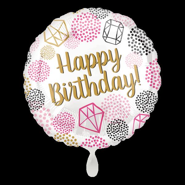 1 Ballon - Happy Birthday Gems
