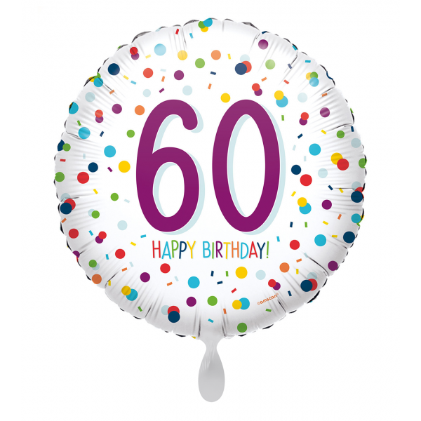 1 Ballon - EU Confetti Birthday 60