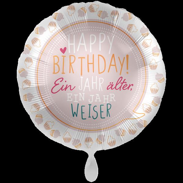 1 Ballon XXL - Birthday Cupcakes