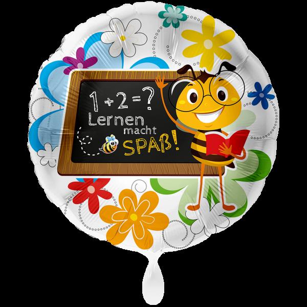 1 Ballon XXL - Lernen macht Spaß Biene