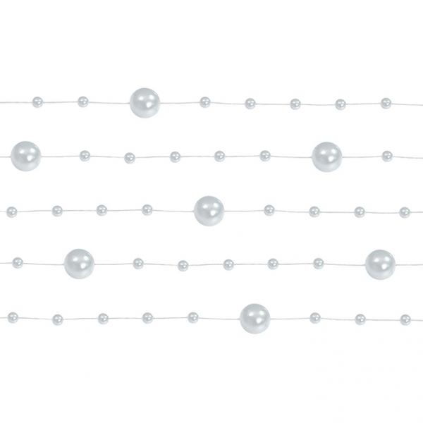 1 Perlengirlande - 1,3m - Silber