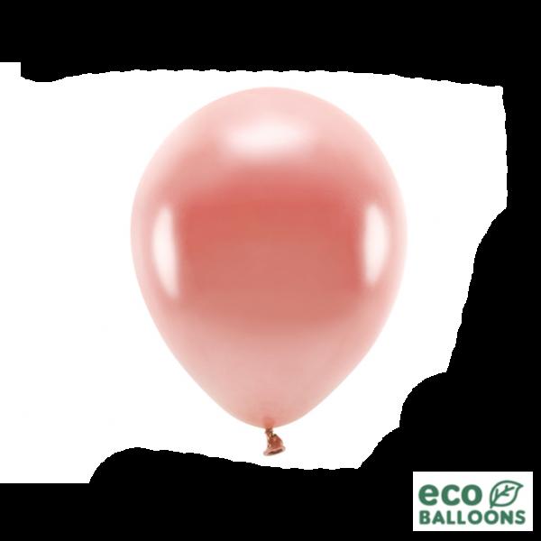 100 ECO-Luftballons - Ø 26cm - Metallic - Rosegold